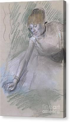 Choker Canvas Print - Dancer by Edgar Degas