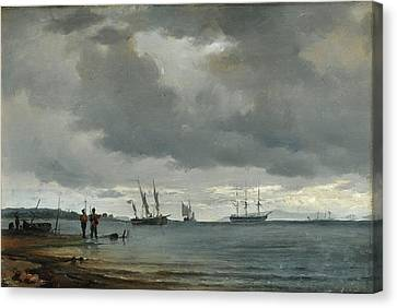 Danish Seascape Canvas Print by Carl Frederick