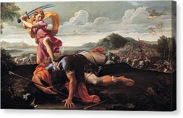 David And Goliath Canvas Print - David And Goliath by Guillaime Courtois