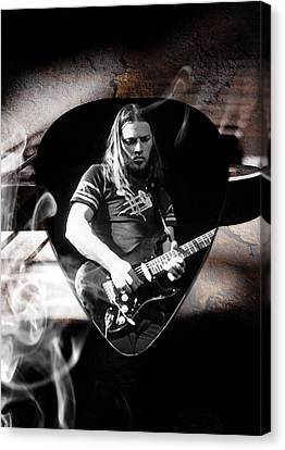 David Gilmour Pink Floyd Art Canvas Print