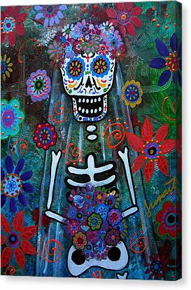 Day Of The Dead Bride Canvas Print by Pristine Cartera Turkus