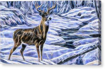 Deer Canvas Print by Marvin Blaine