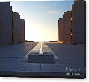 La Jolla Art Canvas Print - Design And Architecture Of The Salk Institute In La Jolla Califo by ELITE IMAGE photography By Chad McDermott