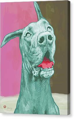 Dog Pop Modern Etching Art Poster Canvas Print