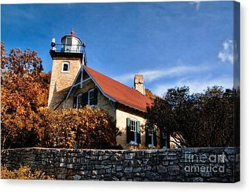 Eagle Bluff Lighthouse Canvas Print by Joel Witmeyer