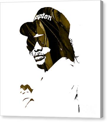 Eazy E Straight Outta Compton Canvas Print by Marvin Blaine