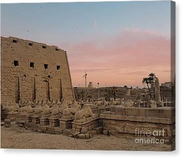 Egypt, North Africa, Temple Of Luxor, Karnak Canvas Print