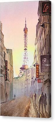 Eifel Canvas Print - Eiffel Tower Paris France by Irina Sztukowski