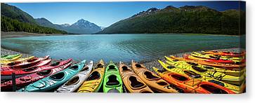Eklutna Lake Alaska Canvas Print by Jon Manjeot