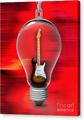 Fender Canvas Print - Electric Fender Stratocaster Collection by Marvin Blaine
