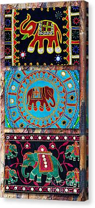 Ganapati Canvas Print - 3 Elephants by Tim Gainey