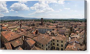 Elevated View Of The City From Torre Canvas Print