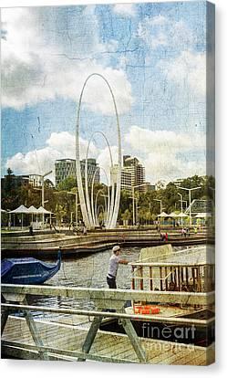 Elizabeth Quay, Perth, Western Australia Canvas Print by Elaine Teague