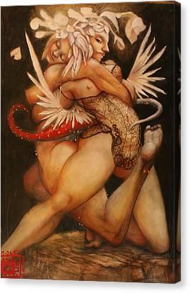 Embrace Of The Virgosis Canvas Print by Ralph Nixon Jr