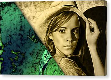 Emma Watson Collection Canvas Print by Marvin Blaine