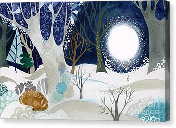 Enid Spring Book Art Canvas Print by Kate Cosgrove
