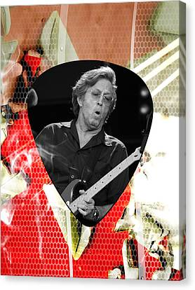 Eric Clapton Art Canvas Print