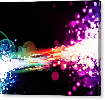 Explosion Of Lights Canvas Print by Setsiri Silapasuwanchai