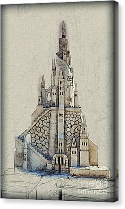 Fantasy Castle Canvas Print by Humorous Quotes