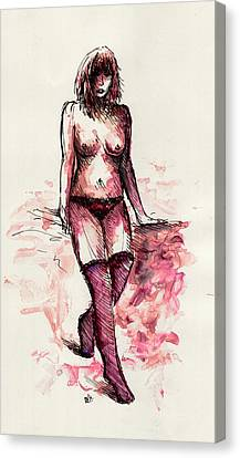 Figure Study Canvas Print by Rachel Christine Nowicki