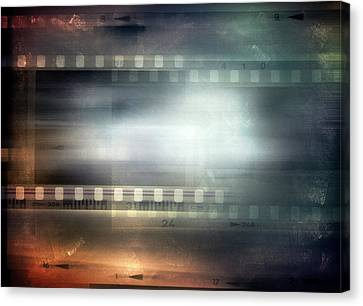 Emulsion Canvas Print - Film Strips by Les Cunliffe