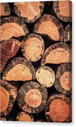 Firewood Detail Canvas Print