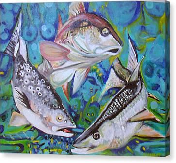 3 Fish Canvas Print by Ottoniel Lima