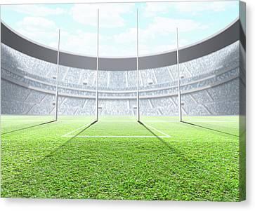 Floodlit Stadium Day Canvas Print by Allan Swart