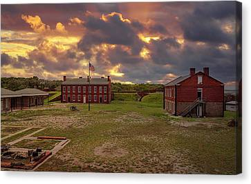 Canvas Print featuring the photograph Fort Clinch by Peter Lakomy