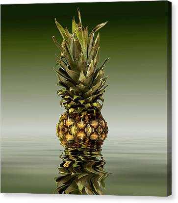 Canvas Print featuring the photograph Fresh Ripe Pineapple Fruits by David French