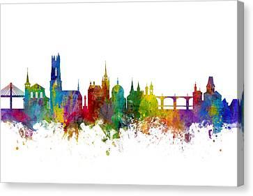 Switzerland Canvas Print - Fribourg Switzerland Skyline by Michael Tompsett
