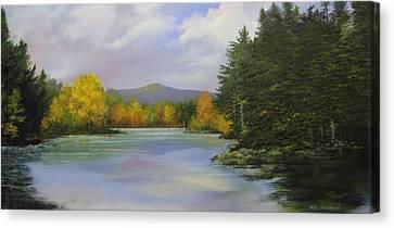 Gale Meadow Pond Canvas Print by Ken Ahlering
