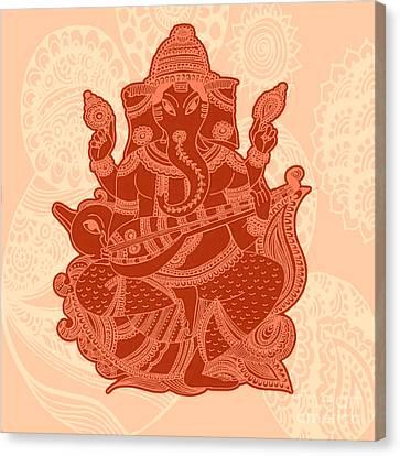 Gond Canvas Print - Ganesha by Sketchii Studio