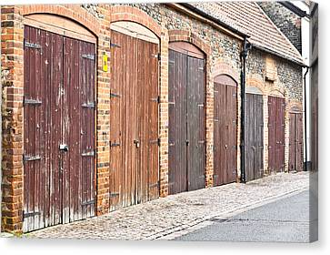 Panel Door Canvas Print - Garage Doors by Tom Gowanlock