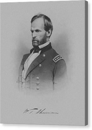 General William Tecumseh Sherman Canvas Print