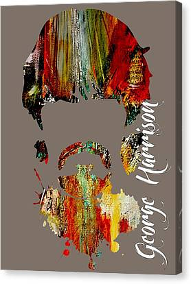 George Harrison Collection Canvas Print by Marvin Blaine