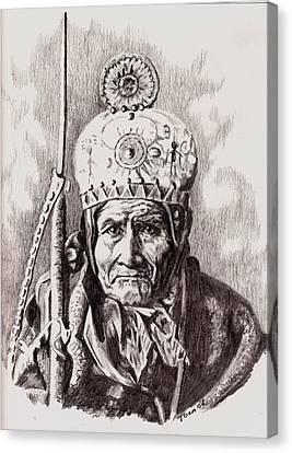Geronimo Canvas Print by Toon De Zwart