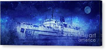Ghostly Canvas Print - Ghost Ship by Ian Mitchell