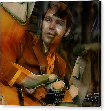 Canvas Print featuring the mixed media Glen Campbell by Marvin Blaine