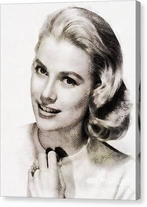Grace Kelly, Vintage Hollywood Actress Canvas Print by John Springfield