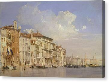 Grand Canal, Venice Canvas Print by Richard Parkes Bonington