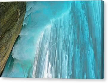 Grand Island Ice Cave Interior Canvas Print by Dean Pennala