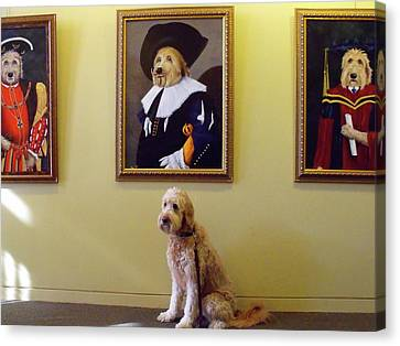 Gunther At His Show  Canvas Print by Diane Daigle