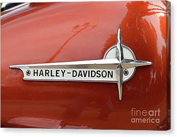 Harley-davidson Badge Canvas Print by George Atsametakis