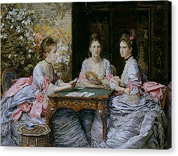 Hearts Are Trumps Canvas Print by John Everett Millais