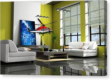 Helicopter Art Canvas Print by Marvin Blaine