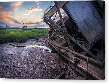Heswall Boat Sunset Canvas Print