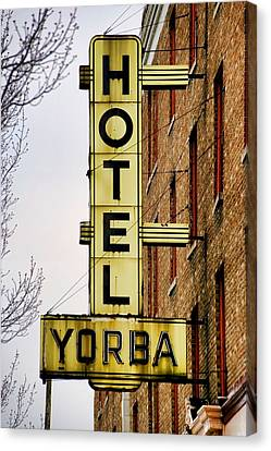 Hotel Yorba Canvas Print by Gordon Dean II