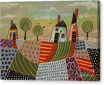 3 Houses 1 Canvas Print by Karla Gerard