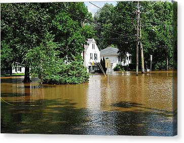 Ridgewood Canvas Print - Hurricane Irene 2011 by Dimitri Meimaris